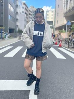 ALPHA SHOP渋谷店のmoe さんのALPHAの【アウター15%OFFクーポン対象】MA-1 ナイロンジャケット U.S.サイズを使ったコーディネート