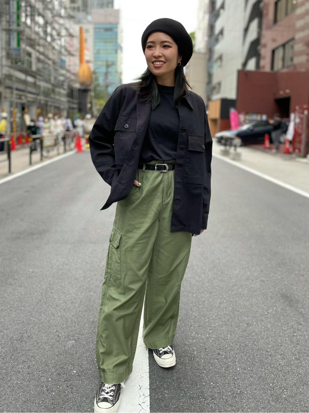 ALPHA SHOP渋谷店のmoe さんのALPHAのミリタリーオーバーシャツを使ったコーディネート