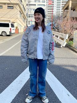 ALPHA SHOP渋谷店のmoe さんのALPHAのL-2B アポロIIを使ったコーディネート