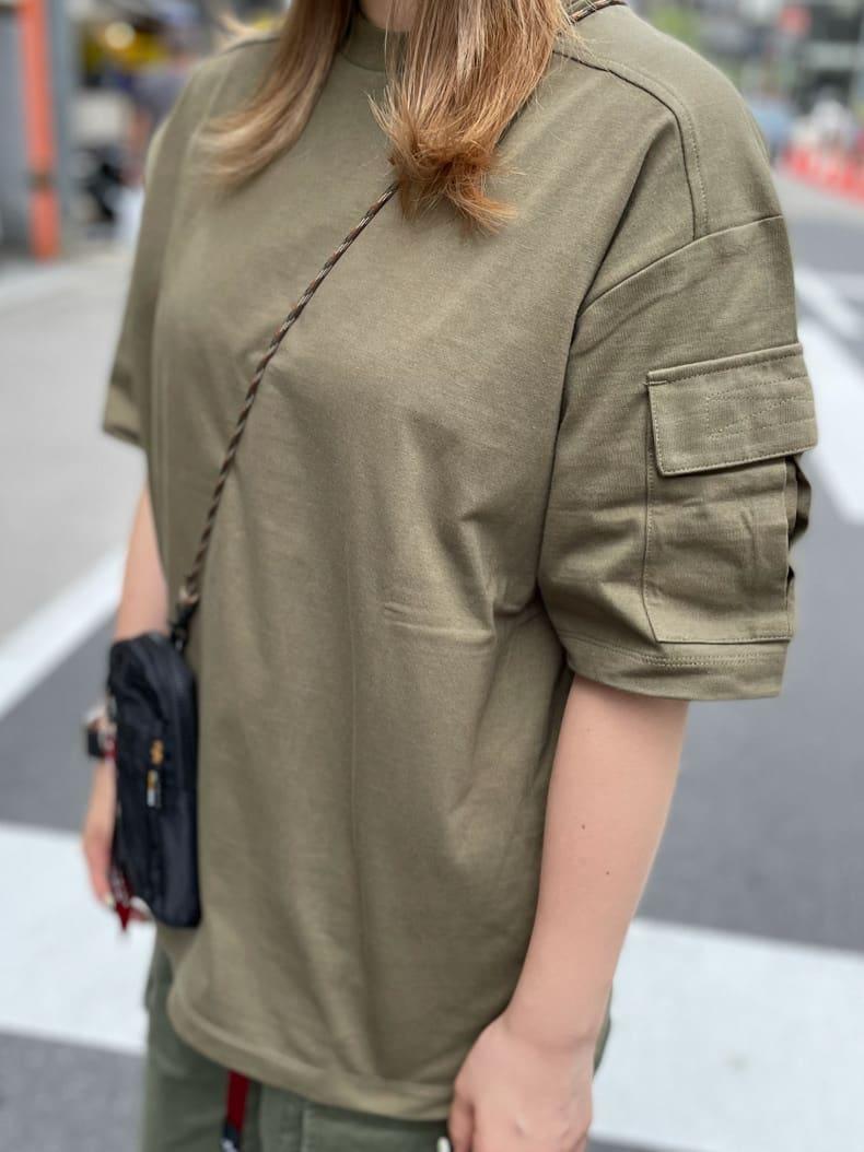 ALPHA SHOP渋谷店のmoe さんのALPHAのスリーブポケット 半袖Tシャツを使ったコーディネート