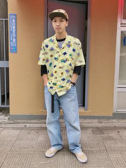 日暮里駅前店のシュンイチさんのEDWINの【EDWIN 60周年限定】 半袖シャツを使ったコーディネート