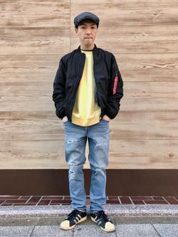 日暮里駅前店のシュンイチさんのEDWINのジャージーズ スリムテーパード【スタンダードモデル】を使ったコーディネート