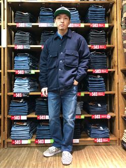 日暮里駅前店のシュンイチさんのEDWINの終了【決算SALE】ヘリンボーン CPO ジャケットを使ったコーディネート