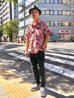 日暮里駅前店のシュンイチさんのEDWINの503 スリムテーパード【レングス73cm】を使ったコーディネート