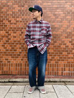 日暮里駅前店のシュンイチさんのEDWINの終了505 ワイドストレートを使ったコーディネート