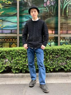 日暮里駅前店のシュンイチさんのEDWINのインターナショナルベーシック 403 ふつうのストレートを使ったコーディネート