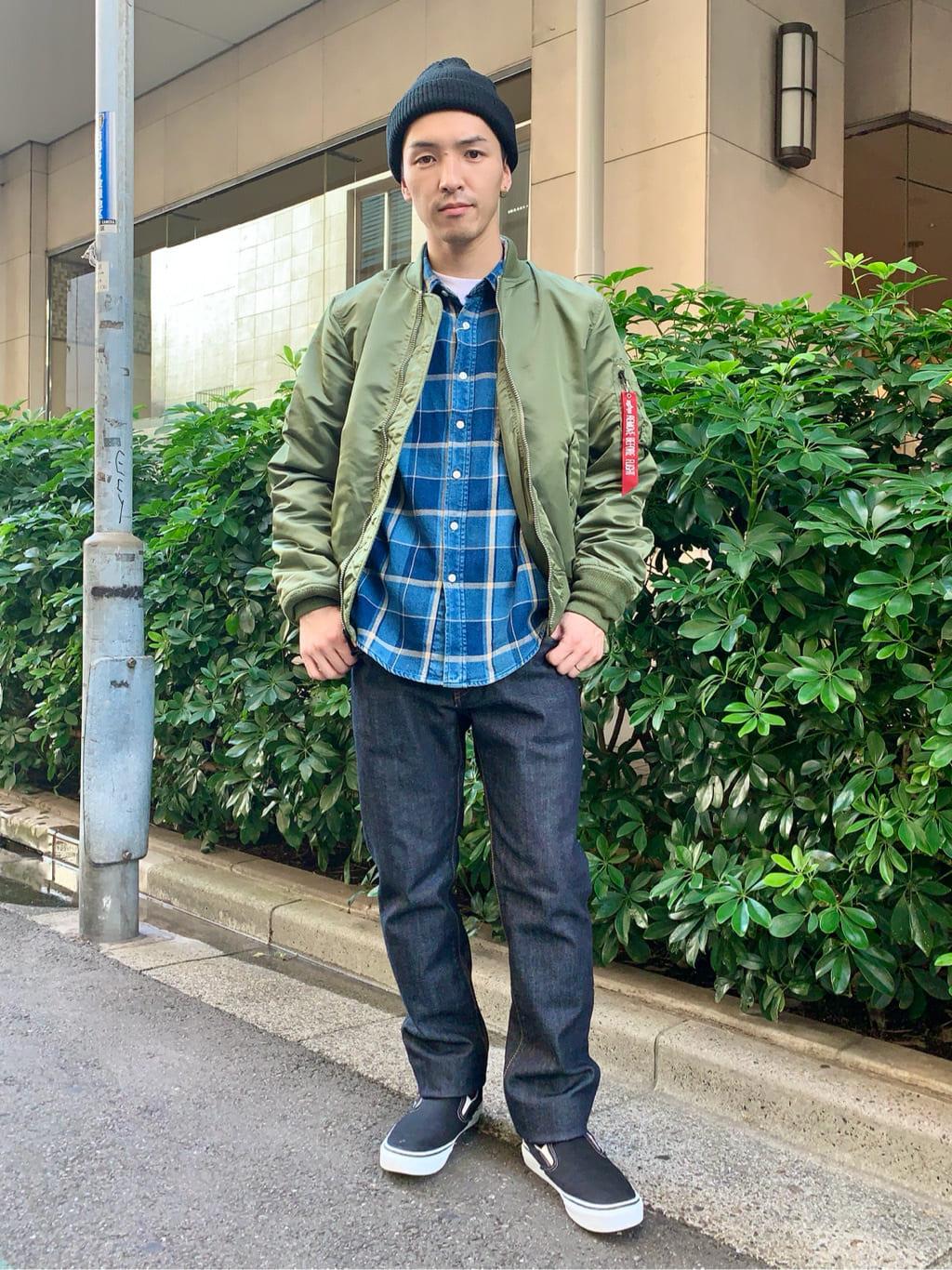日暮里駅前店のシュンイチさんのEDWINの終了【大きいサイズ】503 レギュラーストレートを使ったコーディネート