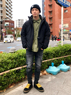 日暮里駅前店のシュンイチさんのEDWINのF.L.E エアーサックジャケット (二層防風)を使ったコーディネート