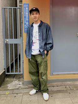 日暮里駅前店のシュンイチさんのEDWINのコーチジャケット (BOXフィット)を使ったコーディネート