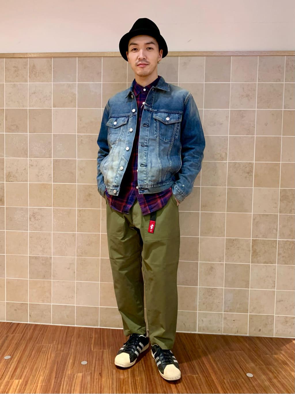 日暮里駅前店のシュンイチさんのEDWINのレギュラーシャツ 長袖(チェック)を使ったコーディネート