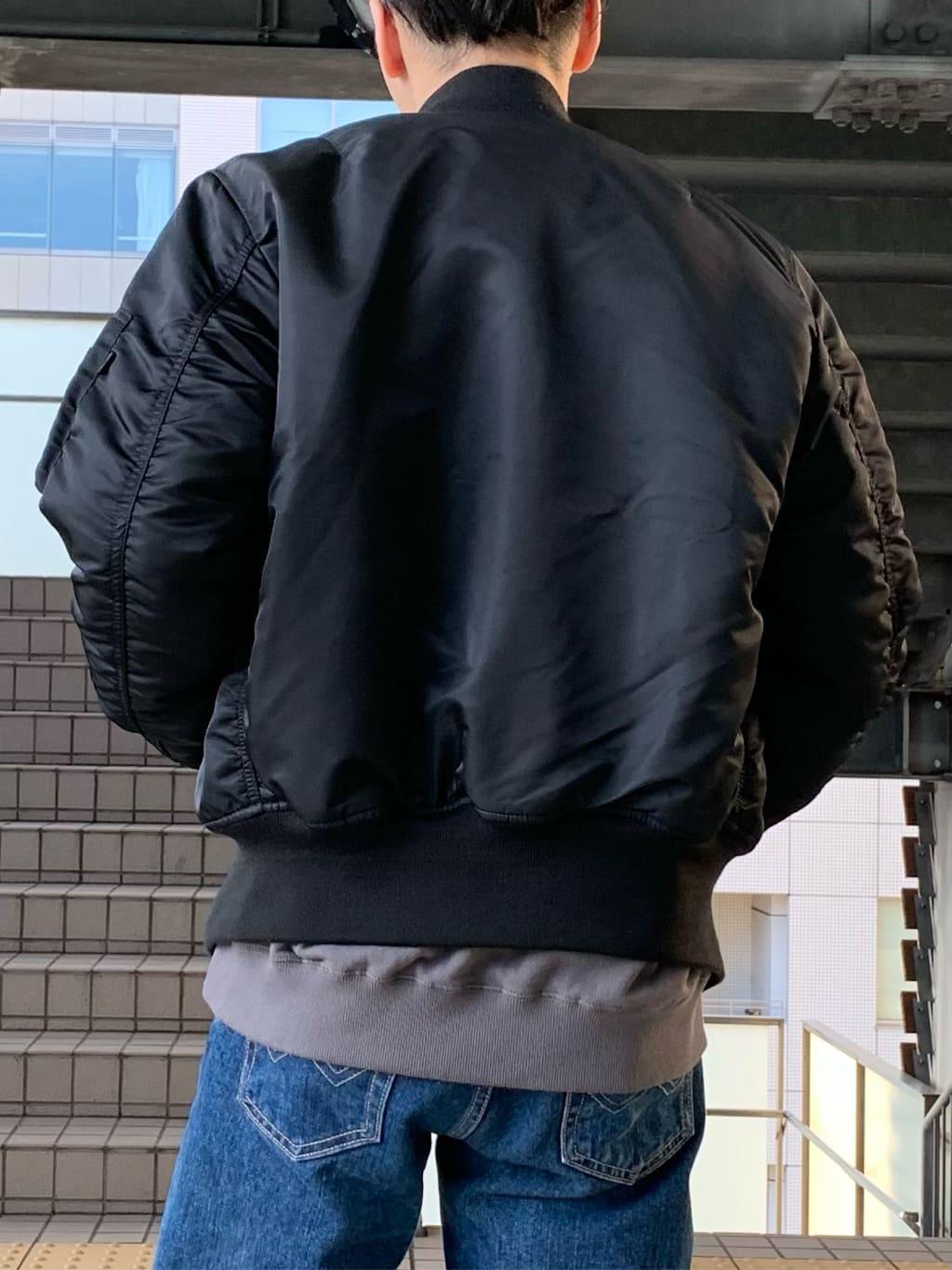 日暮里駅前店のシュンイチさんのALPHAのMA-1 ナイロンジャケット U.S.サイズを使ったコーディネート