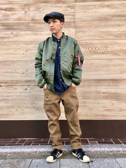 日暮里駅前店のシュンイチさんのEDWINのジャージーズ レギュラーストレート【スタンダードモデル】を使ったコーディネート