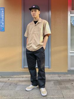 日暮里駅前店のシュンイチさんのEDWINのノータック アジャスター ストレッチトラウザー レギュラーストレートを使ったコーディネート