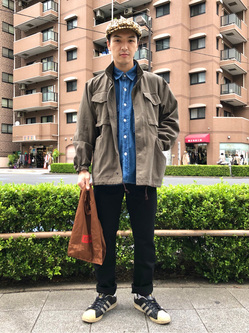 日暮里駅前店のシュンイチさんのEDWINの【SPRING SALE】フィールドジャケット(US ARMY M-65タイプ)を使ったコーディネート