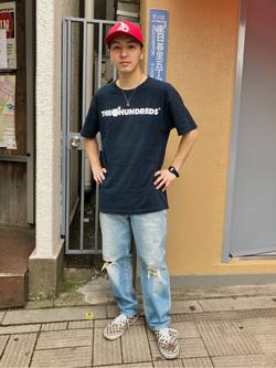 日暮里駅前店のシュンイチさんのEDWINのレギュラーテーパード デニムパンツ (アンクル丈)を使ったコーディネート
