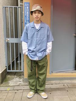 日暮里駅前店のシュンイチさんのEDWINのオープンカラー 半袖シャツを使ったコーディネート