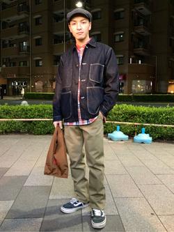日暮里駅前店のシュンイチさんのEDWINの403 WILD FIRE スリムストレート スラッシュポケット[二層構造][暖]を使ったコーディネート
