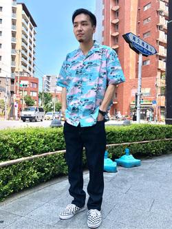 日暮里駅前店のシュンイチさんのEDWINの終了【シークレットセーール!!】COOL FLEX レギュラーストレート (二重織 COOL Denim)を使ったコーディネート