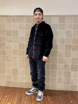 日暮里駅前店のシュンイチさんのEDWINの【コンセプトショップ限定】REGULER TAPERED ボタンフライ 【レングス81.5cm】を使ったコーディネート