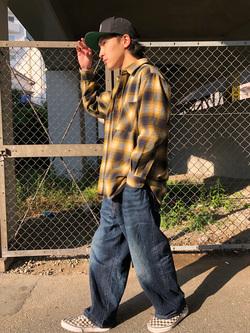 日暮里駅前店のシュンイチさんのEDWINの505 ワイドストレートを使ったコーディネート