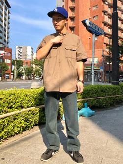 日暮里駅前店のシュンイチさんのEDWINのインターナショナルベーシック 404 ゆったりストレートを使ったコーディネート