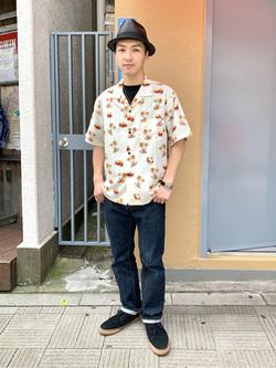 日暮里駅前店のシュンイチさんのEDWINのアロハ 半袖シャツを使ったコーディネート