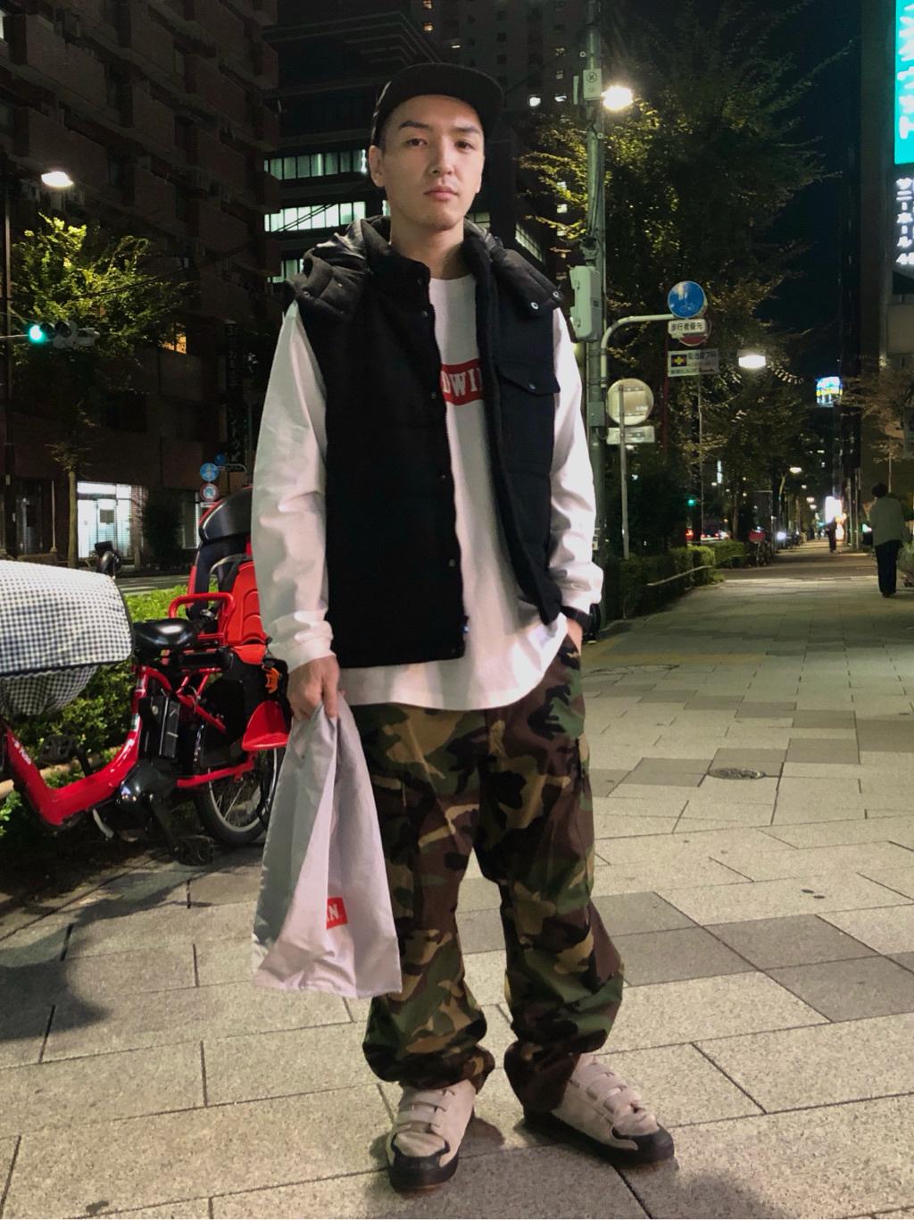 日暮里駅前店のシュンイチさんのEDWINのヘリンボーン 中綿ベストを使ったコーディネート