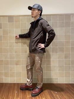 日暮里駅前店のシュンイチさんのEDWINのEDWIN GOLF エドウイン ゴルフ スリムテーパードパンツ タウン【調湿】を使ったコーディネート