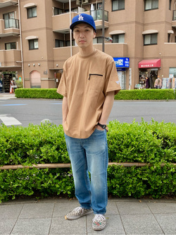 日暮里駅前店のシュンイチさんのEDWINの【PreSALE】F.L.E クルーネック ZIPポケット Tシャツ 半袖を使ったコーディネート