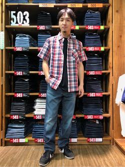 日暮里駅前店のシュンイチさんのEDWINの【直営店限定】【親子コーデができる】クルーネックポケットTシャツ 半袖 【110-180cm】を使ったコーディネート