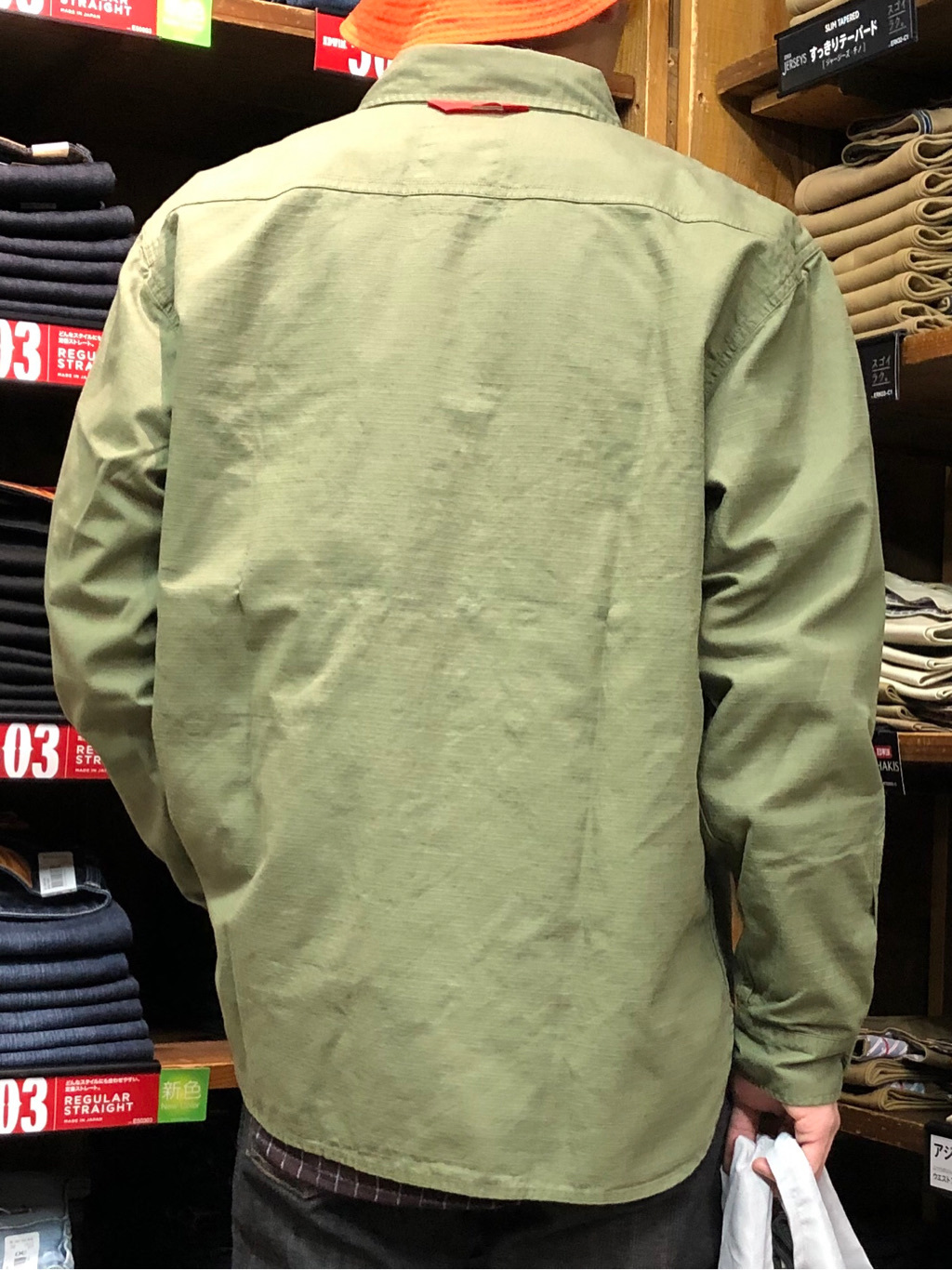 日暮里駅前店のシュンイチさんのEDWINのミリタリーシャツ 長袖(US NAVY CPO SHIRTSタイプ)を使ったコーディネート