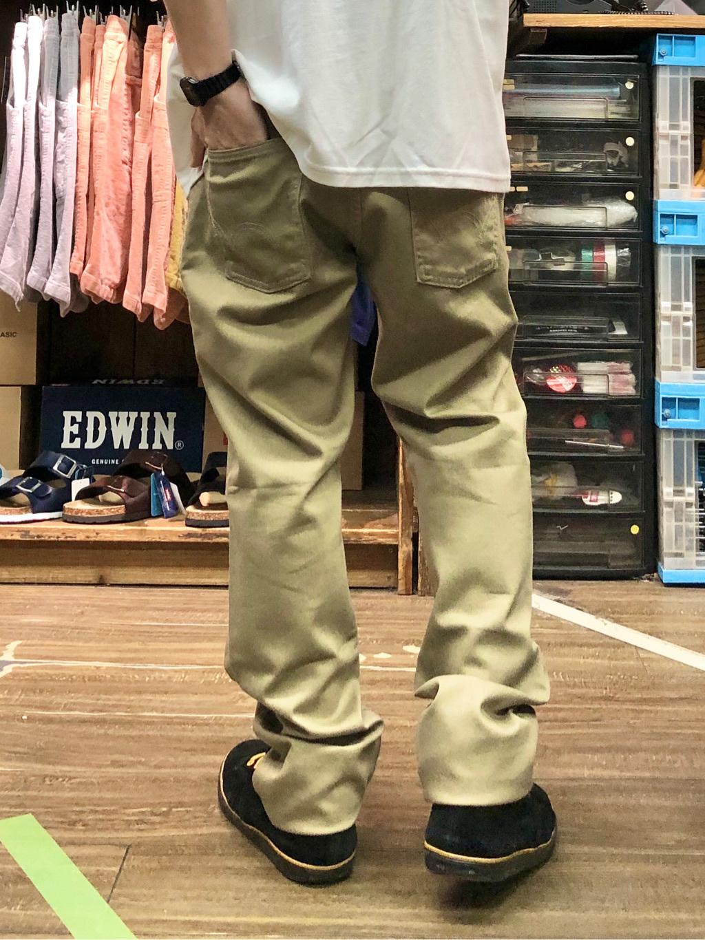 日暮里駅前店のシュンイチさんのEDWINの【ガレージセール】EDWIN BOXロゴ Tシャツ 半袖を使ったコーディネート