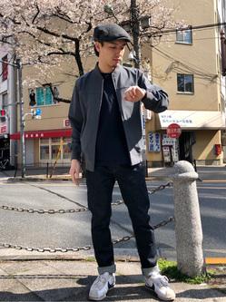 日暮里駅前店のシュンイチさんのEDWINの503 スリムテーパードを使ったコーディネート