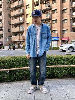 日暮里駅前店のシュンイチさんのEDWINの【Pre sale】【バックスタイルが決まる!】BLUE TRIP ルーズストレートを使ったコーディネート