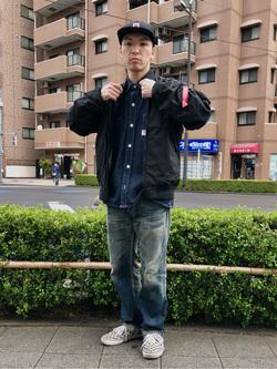 日暮里駅前店のシュンイチさんののL-2B ボンディングジャケットを使ったコーディネート