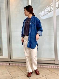 アミュプラザ鹿児島店のAyuさんのLeeのバンドカラー デニム 長袖シャツを使ったコーディネート