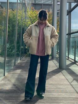 Lee アミュプラザ博多店のRenaさんのLeeの【ユニセックス】フリースジップアップジャケットを使ったコーディネート