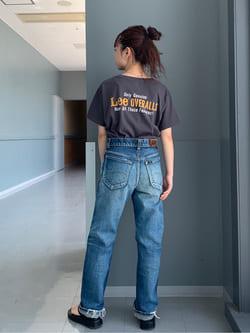 Lee アミュプラザ博多店のRenaさんのLeeの終了【SALE】ロゴモチーフプリント Tシャツを使ったコーディネート