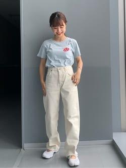 Lee アミュプラザ博多店のRenaさんのLeeの【otonaMUSE掲載】【毎日履きたい】ボーイズストレートパンツを使ったコーディネート