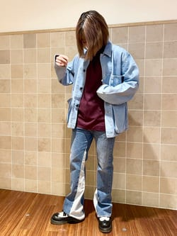 有楽町マルイ店のKaeさんのEDWINのデニスラ モックネック Tシャツ 長袖を使ったコーディネート