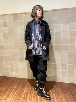 有楽町マルイ店のKaeさんのEDWINのデニスラ ステンカラーコートを使ったコーディネート