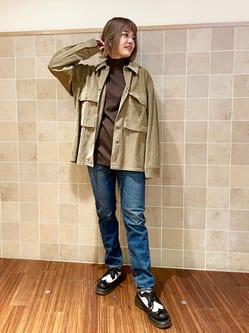 有楽町マルイ店のKaeさんのALPHAのM-43 コーデュロイシャツジャケットを使ったコーディネート