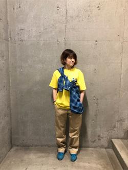 錦糸町PARCO店のKaeさんのEDWINの【再値下げ!サマーセール】インディゴ チェックシャツ 長袖を使ったコーディネート