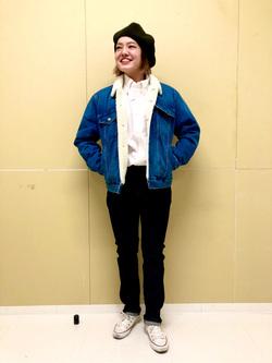 錦糸町PARCO店のKaeさんのEDWINの大人のふだん着 ボタンダウンシャツ 長袖を使ったコーディネート