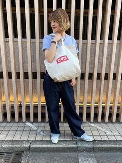 錦糸町PARCO店のKaeさんのEDWINの終了【直営店限定】BOXロゴトートバックを使ったコーディネート