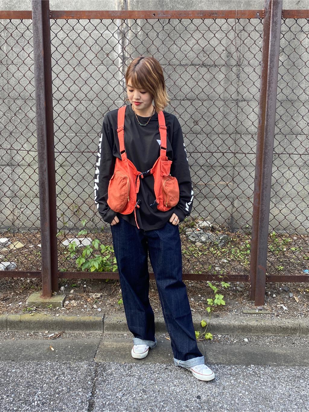 錦糸町PARCO店のKaeさんのEDWINのF.L.E 袖ロゴプリント ロングTシャツ Bを使ったコーディネート