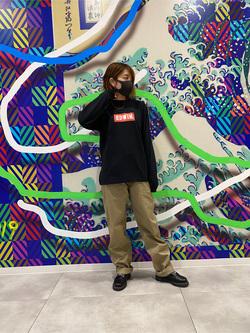 錦糸町PARCO店のKaeさんのEDWINのBOXロゴ ロングスリーブTシャツを使ったコーディネート