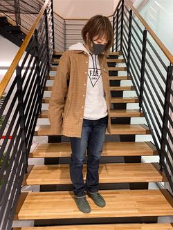 錦糸町PARCO店のKaeさんのEDWINのワイドカラーチェックシャツ 長袖を使ったコーディネート