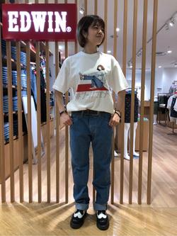 錦糸町PARCO店のKaeさんのEDWINのインターナショナルベーシック 403 ふつうのストレートを使ったコーディネート