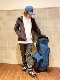 有楽町マルイ店のKaeさんのEDWINのEDWIN GOLF エドウイン ゴルフ モックネックTシャツ 長袖を使ったコーディネート